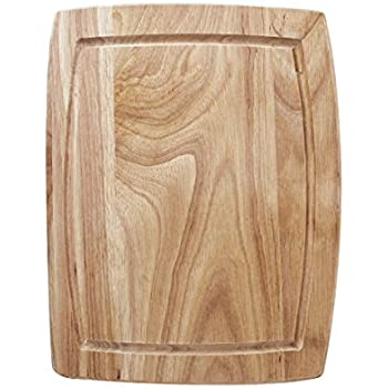 Farberware Wood Cutting Board With Drip Groove Trench, 8 Inch By 10