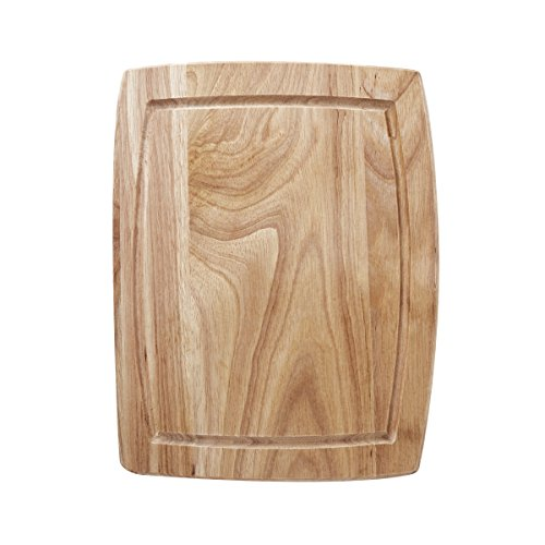 Farberware Wood Cutting Board with Drip Groove Trench, 8-inch-by-10-inch