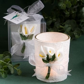 Calla Lilly Wedding Favor Candles (24 pieces)
