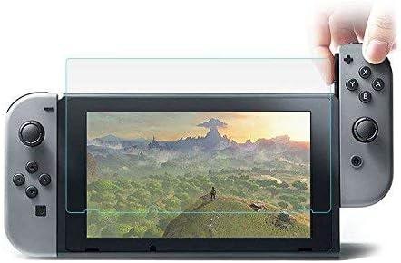 MUNDDY Protector de Pantalla de Cristal Templado para Nintendo Switch Espesor 0,30 mm,2.5D Round Edge,[9H Dureza] [Alta Transparencia] [Sin Burbujas] [Ajuste (1 Protector)