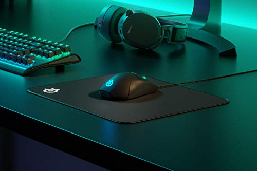SteelSeries QcK Gaming Surface - Large Stitched Edge Cloth - Extra Durable - Optimized For Gaming Sensors - Black