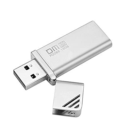 Pendrive 16GB USB 3.0 Memoria USB 16GB 3.0 Aluminio Frash U Disco Plata Dispositivo Almacenamiento con Agujeros Colgantes Alta Velocidad para Ordenadores ...