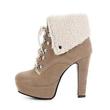 69f548c0 Tobillo De Invierno Moda Zapatos Hasta Camel Botas Otoño Semicuero Hebilla  Botines Robusto Dedo Casual Para ...