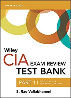 Wiley CIA Exam Review 2019, Part 1: Essentials of Internal Auditing