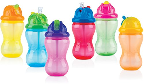 Nuby ID9801 - Taza con pajita, 360 ml, color surtido