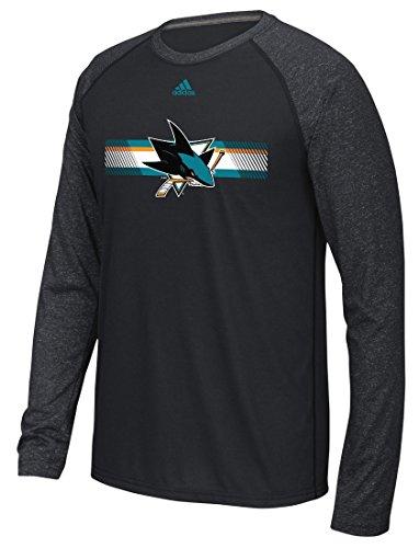 NHL San Jose Sharks Mens Resurface Ultimate L/S Raglan Teeresurface Ultimate L/S Raglan Tee, Black, Medium (Shark Golf Clothing)