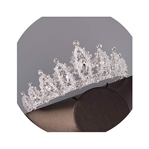 Wedding Bridal Jewelry Sets Earrings Necklace Set Bride Crystal Crown Tiara Headpiece ()
