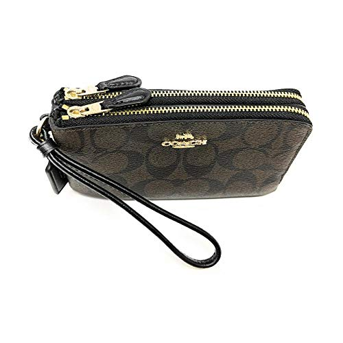 COACH Signature PVC Double Corner Zip 2