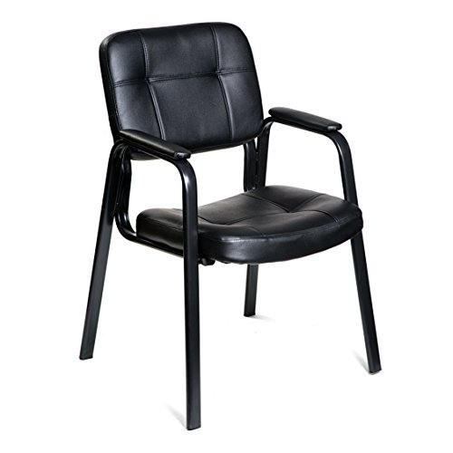 HULLR Guest Office Reception Chair, Black