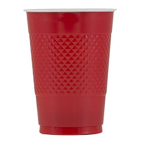 JAM Paper Plastic Cups - 16 oz - Red - 20/pack