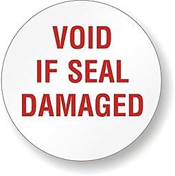 VOID IF SEAL DAMAGED, Tamper Resistant Vinyl Label, 200 Labels / Pack, 0.75\
