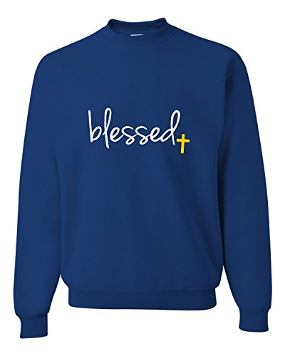 (XXX-Large Royal Adult Blessed Christian Humble Sweatshirt)