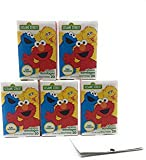 100 Sesame Street Cartoon Childrens Bandaids, Latex Free Adhesive Bandages Assorted Designs (5 Boxes-20 ea) and A Collection of Kids Jokes Bundle by PZ