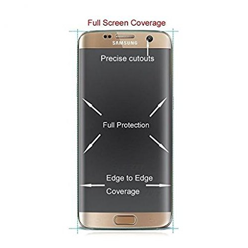 AT&T Samsung Galaxy S7 Edge (SM-G935A) Screen Protector, Full Cover Screen Protector HD Clear LCD Film Curved Display Touch Screen Shield [Edge to Edge] for Samsung Galaxy S7 Edge (SM-G935A) free shipping