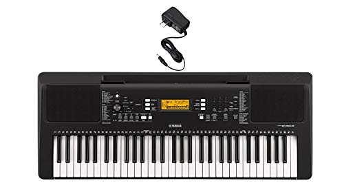Yamaha PSR-E363 Portable Keyboard with Power Adapter
