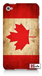 Cool Distressed Canada National Canadian Flag Apple ipod 5 Ipod 5g Quality Hard Case Snap On Skin for ipod Gen 5 and 5, 5G (WHITE CASE)