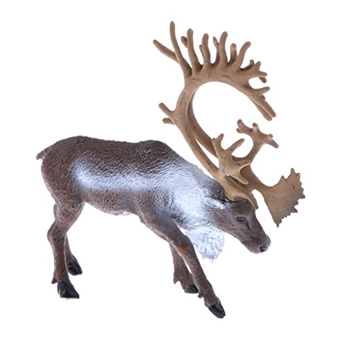 MagiDeal Realistic Animal Model Wild Reindeer Action Figure Figurine Children Kids Nature & Science Learning Toy Gag Toy Practical Jokes