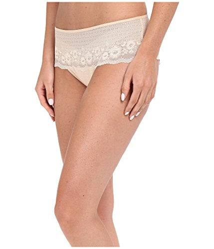(Wacoal Women's The Insider Hipster Panty, Sand, Large)