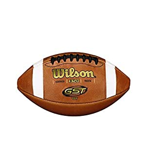 Amazon Com Wilson Gst Tdy Youth Leather Football Pee