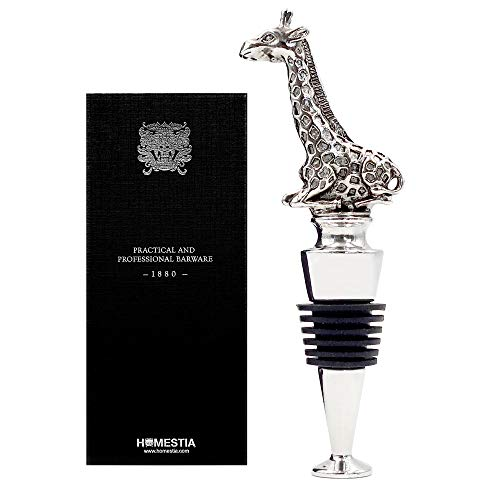 Giraffe Gift - Homestia Wine and Beverage Bottle Stopper Stainless Steel with Giraffe Top Reusable