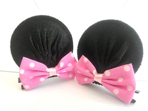 MeeTHan Minnie Mouse Clips Ears Baby Elastic Hair Clips Costume Accessory :M12 (Minnie clip 6 -