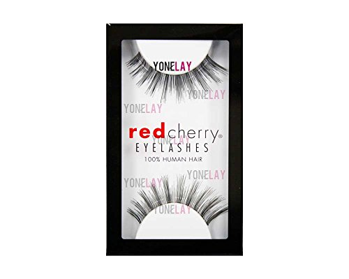 Red Cherry False Eyelashes #16, Black (Pack of