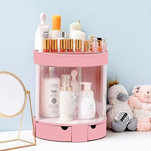 化粧品収納ボックス 大容量シェルフデスクトップ化粧品収納ボックス分類収納ボックスアクリルホワイトピンク DWWSP (Color : Pink)