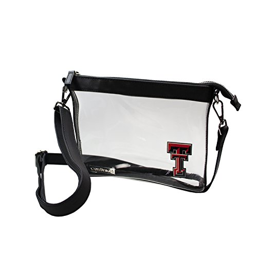 (Capri Designs Clear Small Crossbody Bag Stadium Approved - TTU Red Raiders)