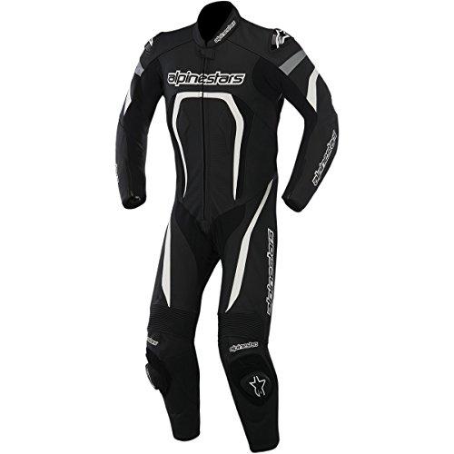 Alpinestars Motegi Men's 1-Piece Street Motorcycle Race Suits - Black/White / 60