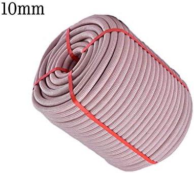ZHWNGXO Outdoor-Camping-Seil, 10mm Discolor fest Weaving hochfestes Nylon Seil Long Life (Size : 50m)