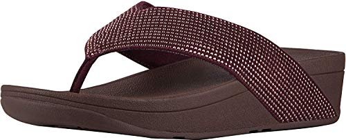 (FitFlop Women's Ritzy Toe-Thong Sandals, Berry, Size)