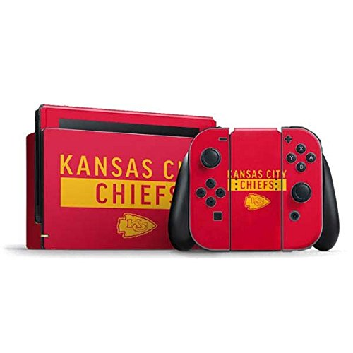 Skinit NFL Kansas City Chiefs Nintendo Switch Bundle Skin - Kansas City Chiefs Red Performance Series Design - Ultra Thin, Lightweight Vinyl Decal Protection
