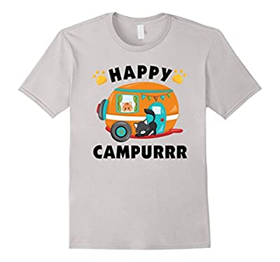 Happy Campurrr T-Shirt Funny Camping with Cats Camper