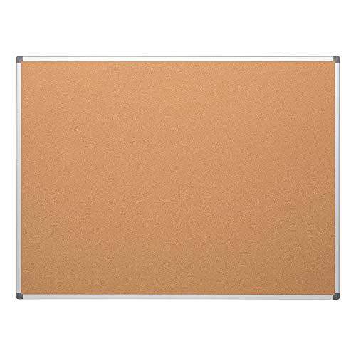Shipping Cork Board - Learniture LNT-127-3648-SO  Natural Cork Board w/ Aluminum Frame, Brown
