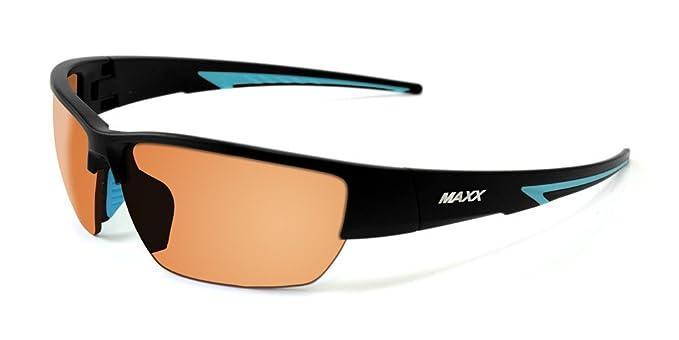 a54487d007 Amazon.com  2017 Maxx Sunglasses Maxx 7 Black Light Blue Frame TR90 ...
