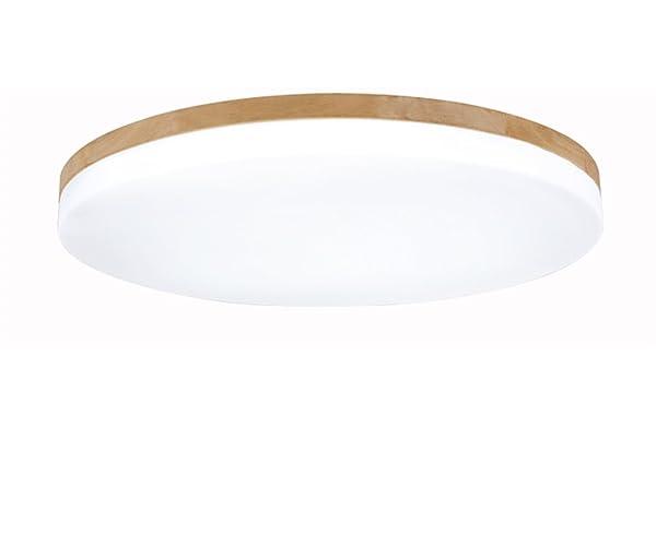 Deckenleuchte Holz Wohnzimmer Lampe Rund Flach Wohnzimmerlampe Holzlampe  Eiche Deckenlampe Schlafzimmer Vintage Leuchte Decken Licht Mit
