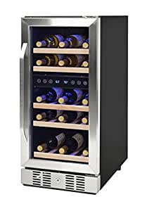 NewAir AWR-290DB Compact 29 Bottle Compressor Wine Cooler, Black/Stainless Steel