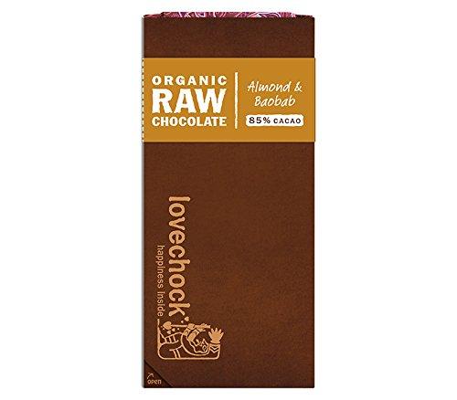 Lovechock Chocolate Vegano con Almendras y Baobab - Paquete de 8 x 70 gr - Total: 560 gr: Amazon.es: Alimentación y bebidas