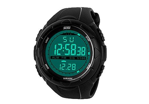SKMEI Men's Military Black LCD Digital Sport Watch - 4