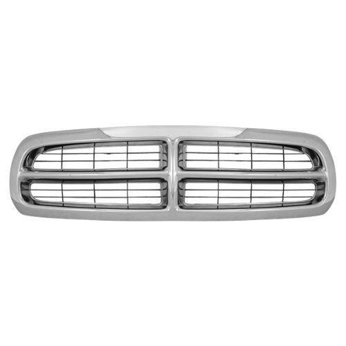 2004 Dodge Dakota Grille - CarPartsDepot, Front Grille Chrome Frame Black Bar Insert Grill Assembly Replacement, 400-17617 CH1200199 55056092