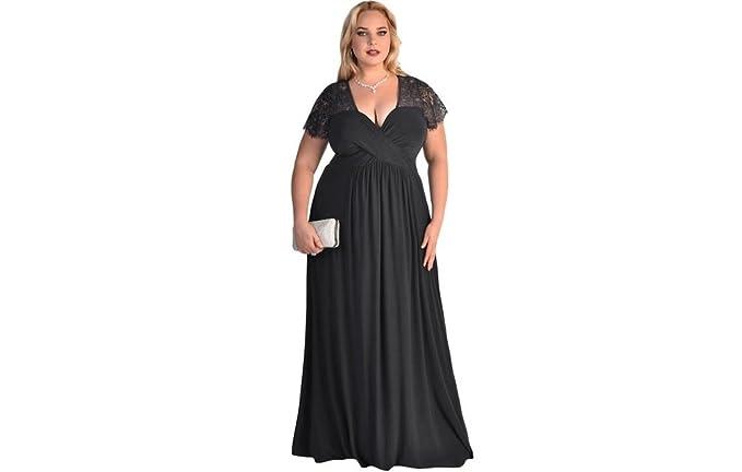 Vestidos XXL Tallas Grandes Plus Ropa De Moda Para Mujer Sexys Casuales Largos De Fiesta Elegantes Negros Rojos VE0065 at Amazon Womens Clothing store: