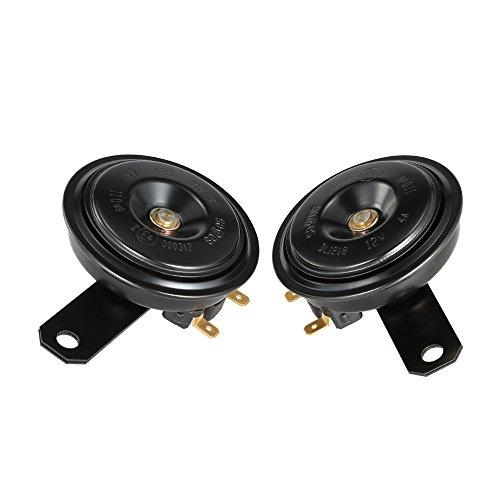 KKmoon 2Pcs 12V 110DB Ultra Loud Horn Dual Tone Speaker Universal for Motorcycle Car Truck Van