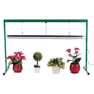 iPower 54W 4 Feet T5 Fluorescent Grow Light Stand Rack for Seed Starting Plant Growing, 6400K