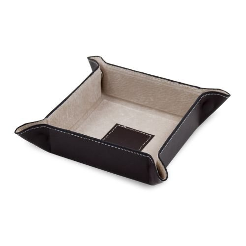 Men's Change Valet Tray in Brown Genuine Leather
