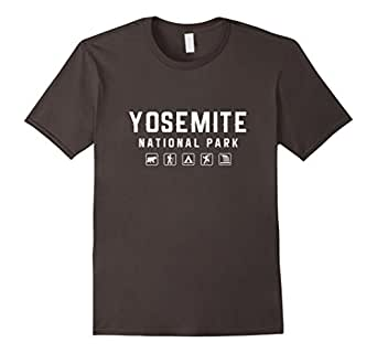 Mens Yosemite National Park Icon T-shirt 3XL Asphalt