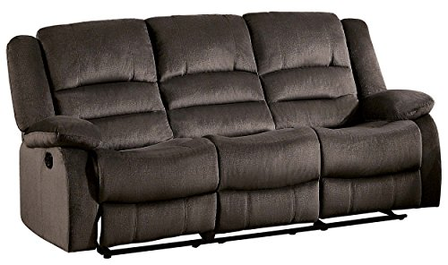 Homelegance Jarita Reclining Sofa Polyester Fabric Cover, Chocolate