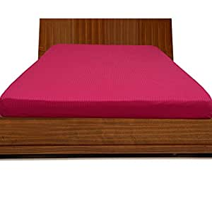 Brightlinen Hot Pink Single (90 X 190 Cm) Fitted Sheet Stripe (pocket Size: 22 Cm) 1pcs