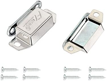 ZXHAO Cupboard Cabinet Drawer Door Magnetic Latch Catch Stainless Steel 12pcs with Screws