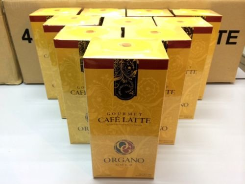 10 Boxes Organo Gold Gourmet Cafe Latte with Ganoderma Lucidum Extract + Free 10 Sachets Ganocafe 3 in 1 Coffee