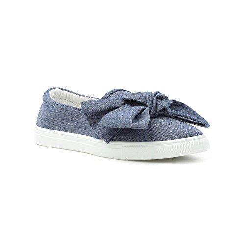 Lilley Kvinna Denim Dimensionerad Båge Canvas Shoe Blue